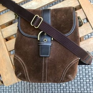 Vintage Suede Coach Crossbody bag